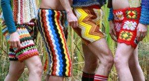 mens crocheted pants