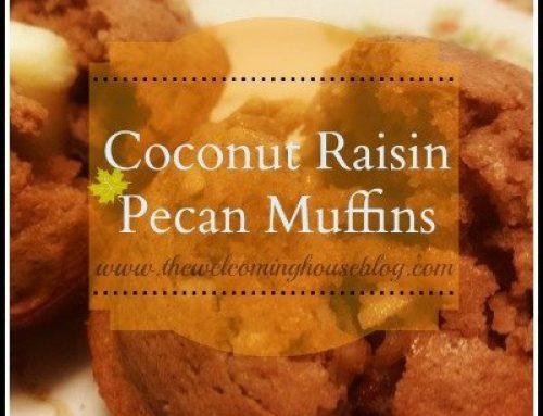 Coconut  Pecan Raisin Breakfast Muffins
