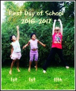 first day of school 2016-2017 www.thewelcominghouseblog.com