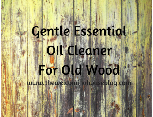 Gentle Essential Oil Cleaner for Old Wood