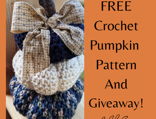 FREE Adorable Crochet Pumpkin Pattern and GIVEAWAY!